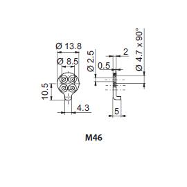 Entraîneur M46 pour cylindre 1008C