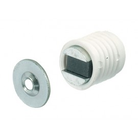Loqueteau magnétique pvc blanc