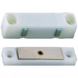 Loqueteau magnétique 2771/1W pvc blanc