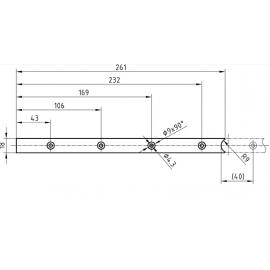Rallonge Glutz B-1159 pour serrures Tribloc
