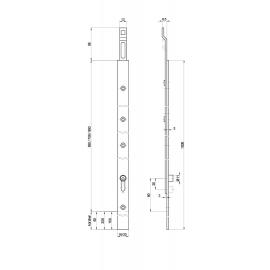 Rallonge MSL 1863 pour serrures Tribloc