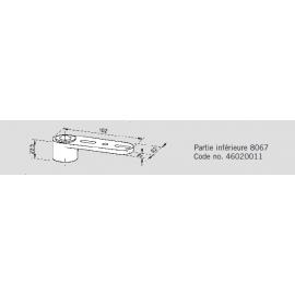 Pivot du haut réglable Dorma 8067 (partie inf)
