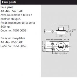 Faux pivot Dorma 7475 AX
